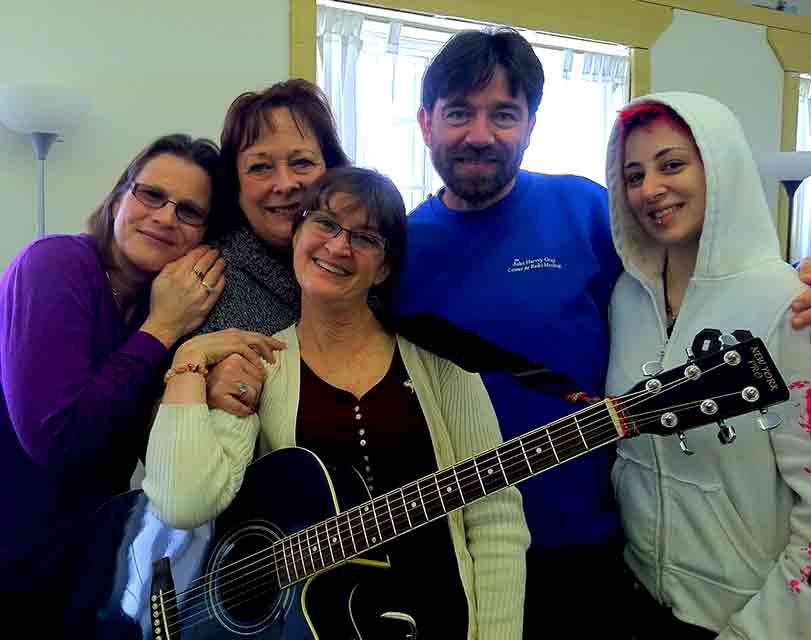 Reiki Master Students with guitar